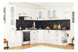 Угловая белая кухня Люкс - Мебельная фабрика «PDM-мебель»