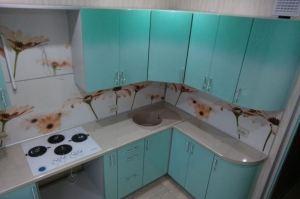 Угловая бирюзовая кухня - Мебельная фабрика «Хорда Мебель»