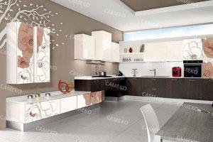 Угловая большая кухня - Мебельная фабрика «Самеко»
