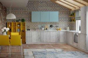 Угловая цветная кухня Кальяри - Мебельная фабрика «Эстель»