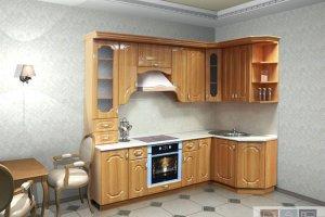 Угловая деревянная кухня - Мебельная фабрика «Актуаль-М»