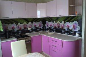 Угловая фиалковая кухня - Мебельная фабрика «Агата»
