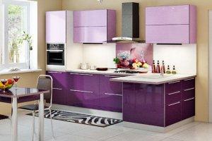 Угловая фиолетовая кухня - Мебельная фабрика «ДОН-Мебель»