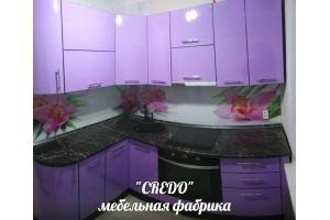 Угловая фиолетовая кухня - Мебельная фабрика «Кредо»