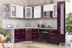 Угловая глянцевая кухня - Мебельная фабрика «Актуаль-М»