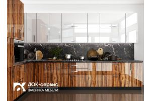 Угловая глянцевая кухня - Мебельная фабрика «ДОК-Сервис»