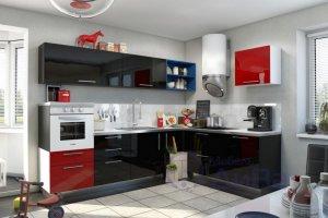 Угловая Глянцевая Кухня Фьюжн - Мебельная фабрика «ДиВа мебель»