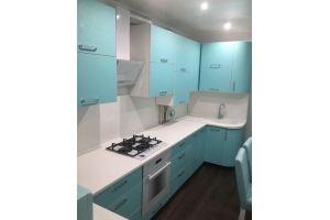 Угловая голубая кухня - Мебельная фабрика «Мебель Шик»