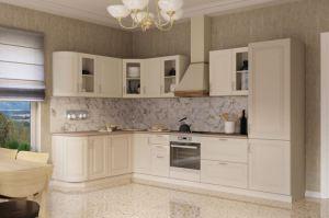 Угловая классическая кухня МДФ - Мебельная фабрика «Кухни Вардек»