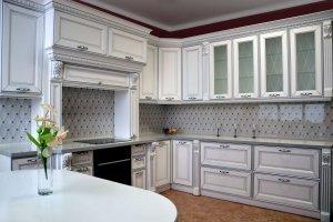 Угловая белая кухня Патриция - Мебельная фабрика «Виктория»