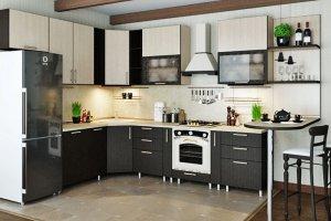 Угловая комбинированная кухня - Мебельная фабрика «ДОН-Мебель»
