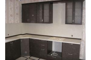 Угловая коричневая кухня - Мебельная фабрика «ДОН-Мебель», г. Волгодонск