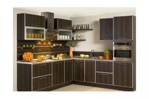 Угловая коричневая кухня Авалина - Изготовление мебели на заказ «КухниДар»