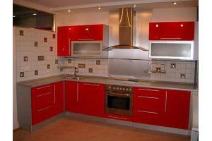 Угловая красная кухня - Мебельная фабрика «Арт Мебель» г. Новосибирск