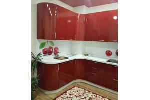 Угловая красная кухня - Мебельная фабрика «Мебель Хаус»