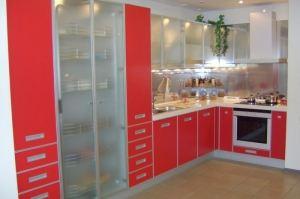 Угловая красная кухня - Мебельная фабрика «GaRam»