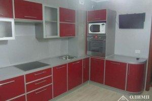 Угловая красная кухня Екатерина 05 - Мебельная фабрика «ОЛИМП»