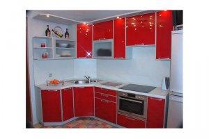 Угловая красная кухня Розелли - Изготовление мебели на заказ «КухниДар»