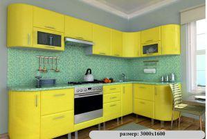 Угловая кухня 18 желтого цвета - Мебельная фабрика «Модерн»