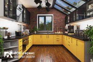 Угловая п-образная кухня - Мебельная фабрика «ДОК-Сервис»