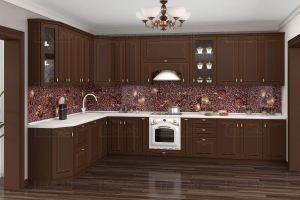Модульная кухня Милано 3.85Х1.90 - Мебельная фабрика «Классика Мебели»