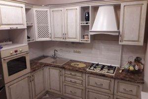 Угловая кухня 3 фасад Патина - Мебельная фабрика «Дар», г. Пенза