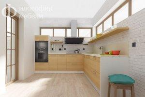 Угловая КУХНЯ №33 - Мебельная фабрика «Философия мебели»