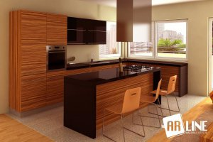 Угловая кухня 5-3 - Мебельная фабрика «ARLINE»