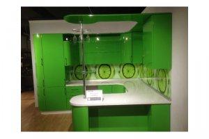 Угловая кухня Эмаль Зеленое яблоко - Мебельная фабрика «Кухни-АСТ»