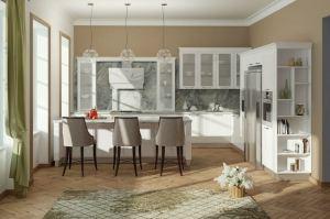 Угловая кухня Эмика с островом - Мебельная фабрика «Кухни MIXX»