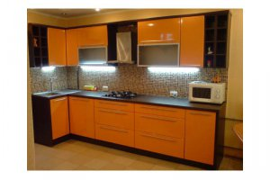 Угловая кухня фасады Эмаль  - Мебельная фабрика «Ваша мебель»