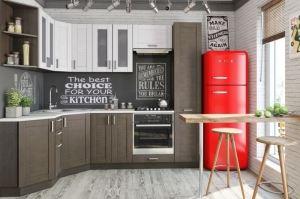 Угловая кухня (фасады шпон) - Мебельная фабрика «Проспект мебели»
