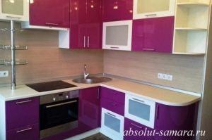 Угловая кухня фуксия - Мебельная фабрика «Абсолют»
