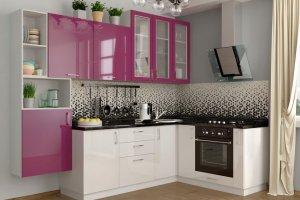 Кухонный гарнитур с пластиковыми фасадами Фуксия - Мебельная фабрика «Эстель»
