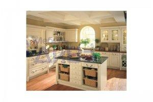 Угловая Винтажная кухня с островом - Мебельная фабрика «ДиВа мебель»