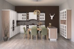 Угловая кухня  Габи с островом - Мебельная фабрика «Кухни MIXX»