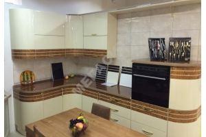 Угловая кухня глянец эмаль+шпон - Мебельная фабрика «Мега Сити-Р»