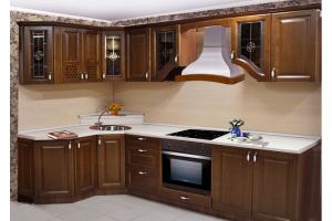 Угловая кухня Гретта из массива - Мебельная фабрика «Формула Уюта»