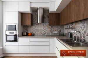 Угловая кухня из акрила Чикаго - Мебельная фабрика «Прима-сервис»