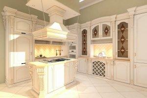 Угловая кухня из дерева - Мебельная фабрика «Карина»