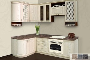 Угловая кухня из дерева - Мебельная фабрика «Актуаль-М»