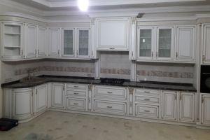 Угловая кухня из дерева - Мебельная фабрика «НКМ»