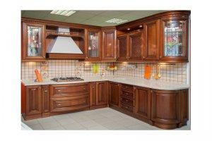 Угловая кухня из массива БАСКАРА - Мебельная фабрика «КухниДар»