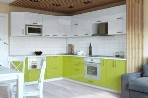 Угловая кухня из пластика Лайм - Мебельная фабрика «Анталь»