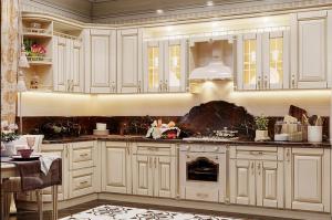 Угловая кухня классика МДФ - Мебельная фабрика «ARTOKEAN»