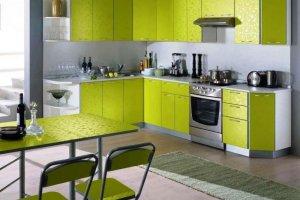 Угловая кухня лайм - Мебельная фабрика «Абсолют»