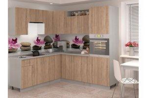 Угловая кухня ЛДСП Лира 9 - Мебельная фабрика «Баронс»
