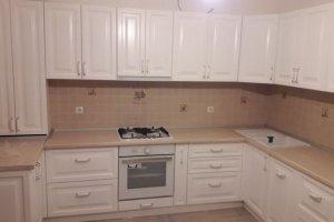 Угловая кухня МДФ белая эмаль - Мебельная фабрика «Беранд»