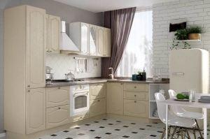 Угловая кухня МДФ Роял Вуд Кофе - Мебельная фабрика «Эстель»