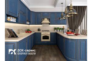 Угловая кухня МДФ со шпоном - Мебельная фабрика «ДОК-Сервис»